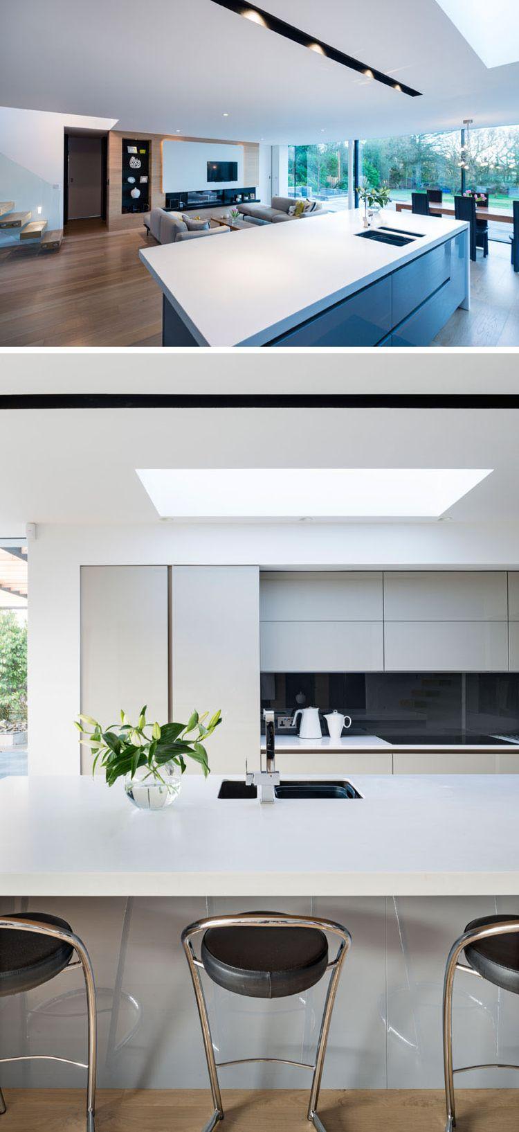 Moderne offene Küche mit Theke | Wohnideen Küche | Pinterest ...