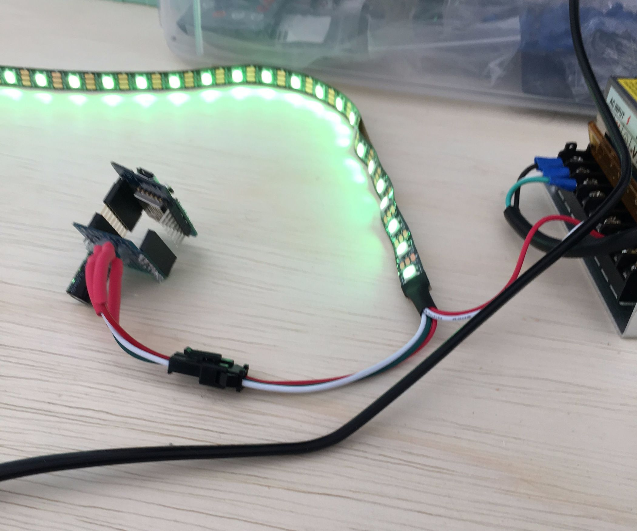Esp8266 Led Strip Mqtt Control Lights Ws2812 Pinterest Vertical Etching Tank For Diy Pcb Electronicslab I Always Wanted Under Bed So That Can The Mood Or Even On Family Room Underneath Tv To Get Very Subtle Lighting