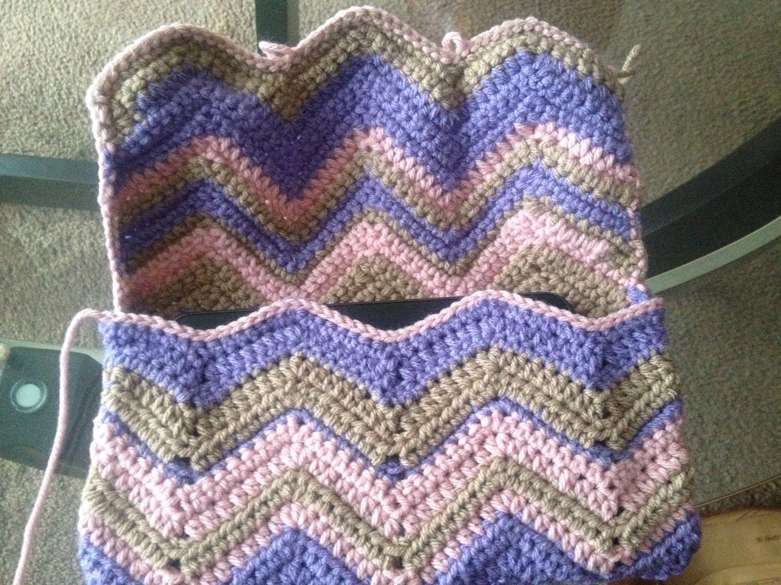 Chevron Crochet tablet case by Risqué Crochet