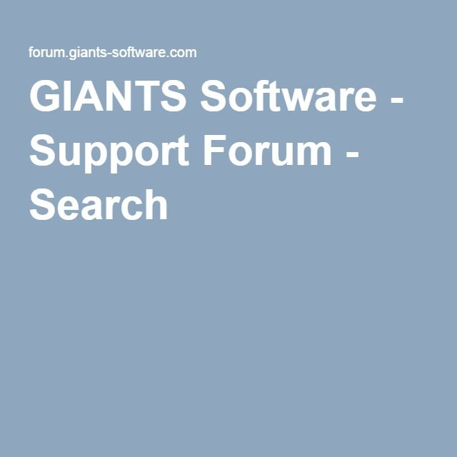 GIANTS Software - Support Forum - Search