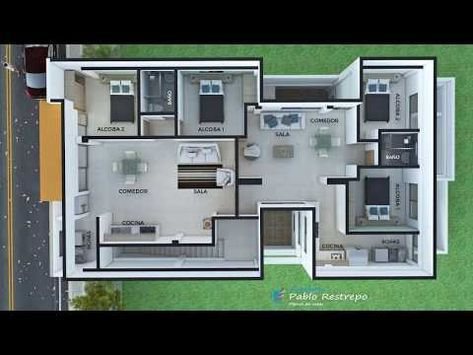 36 dise o moderno edificio de apartamentos en tres pisos for Pisos para apartamentos modernos