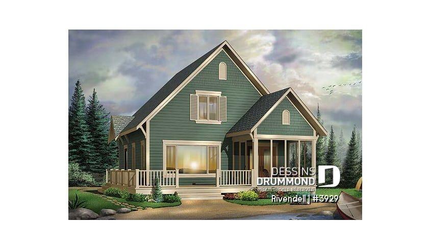 Decouvrez Le Plan 3929 Rivendell Qui Vous Plaira Pour Ses 3 Chambres Et Son Style Chalet House Plans Drummond House Plans Cabin Style