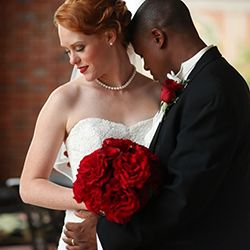 SUPER CUTE!!! A classic black, white and red wedding with old Hollywood glamour captured by Jen + Ashley Photography.
