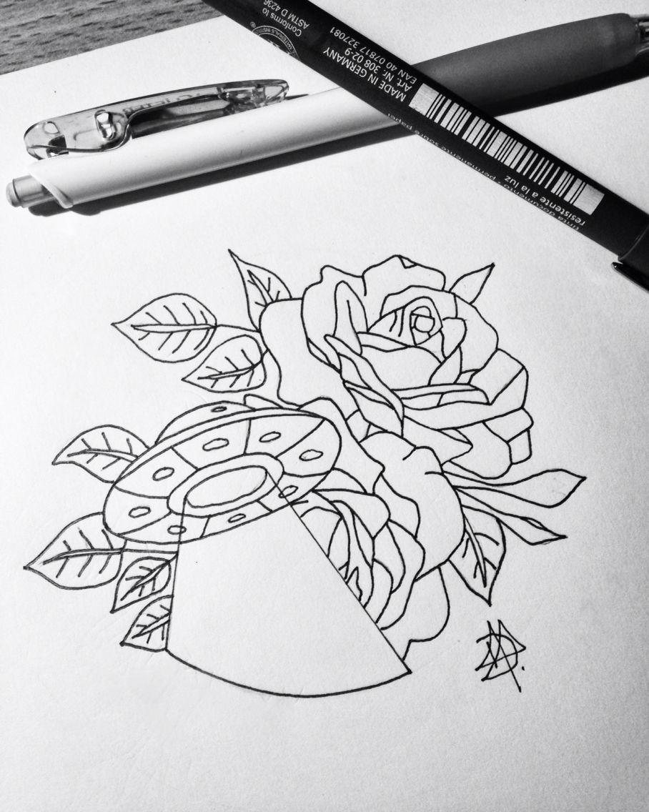 ovni #alien #roses #draw #sketch #tattoo #UFO … | Pinteres…