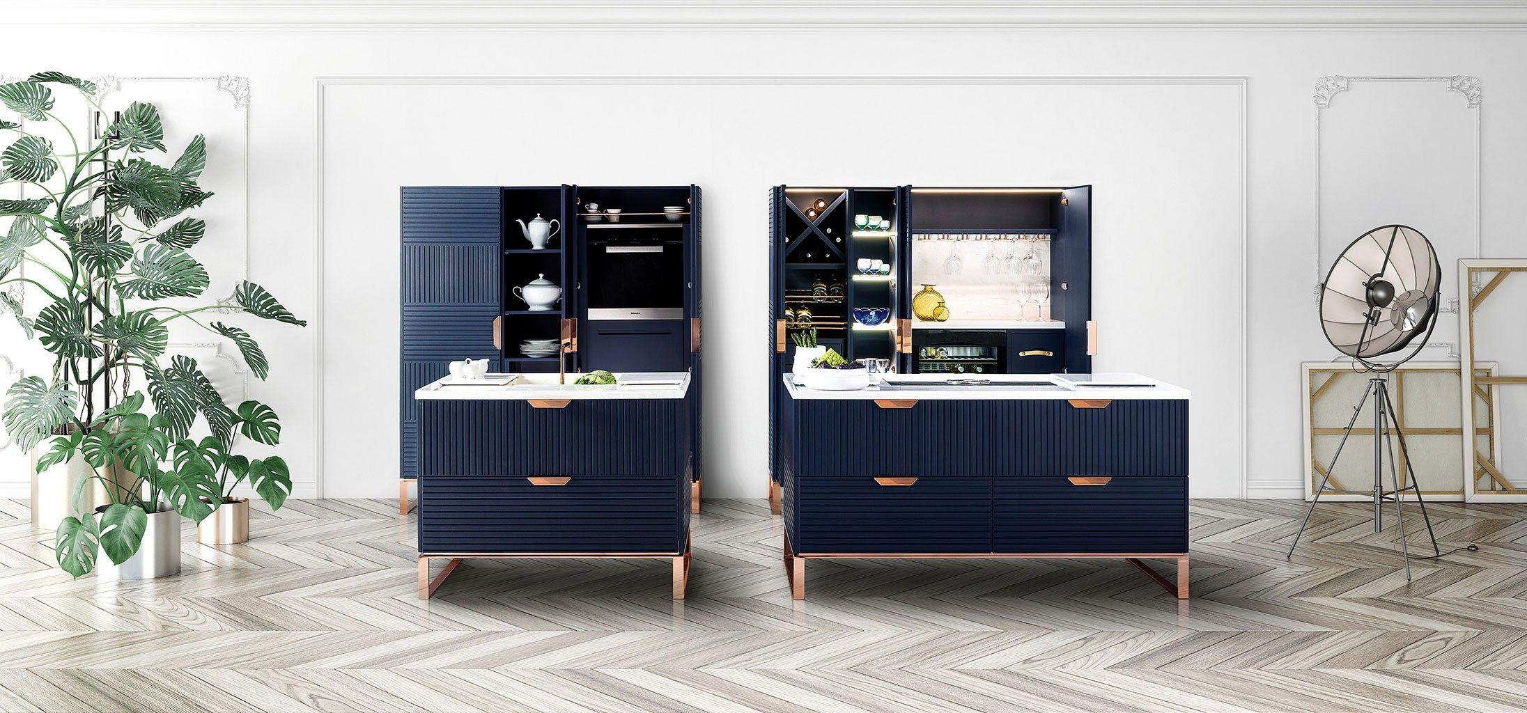 Küche mit Kücheninsel mit Griffe MIUCCIA by TM Italia Cucine Design ...