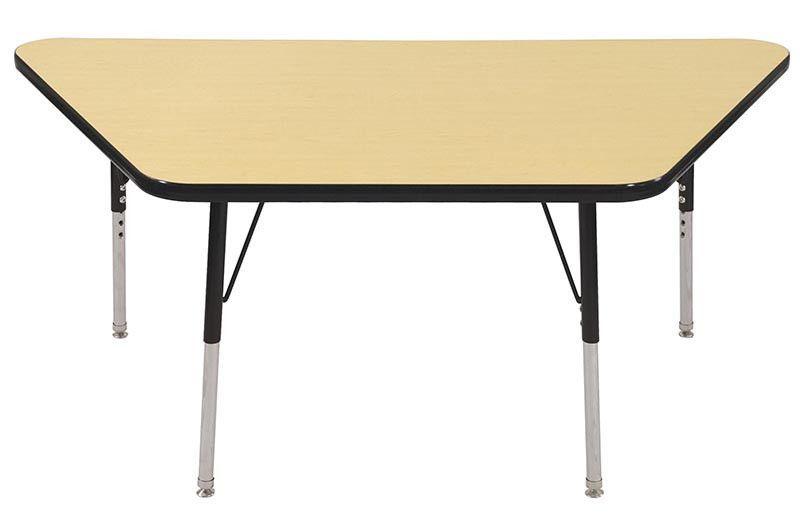 "ECR4Kids ELR-14119-MBBK-SS 30x60"" Trap Table Maple/Black-Standard Swivel"