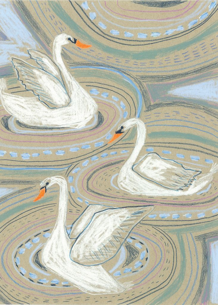 """""""S"""" IS FOR SWAN - PRINT"""