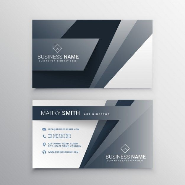 Skachivajte Sovremennyj Dizajn Shablona Seryj Vizitnaya Kartochka Besplatno Business Card Template Design Graphic Design Business Card Business Card Design Black