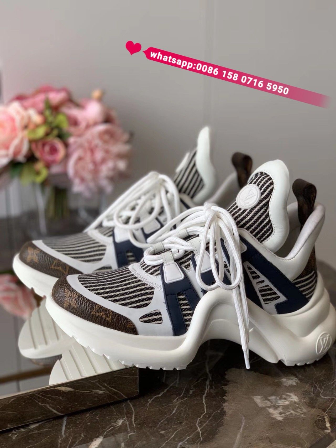 huge selection of 54077 40b16 newest Louis Vuitton archlight sneakers women shoes trainers