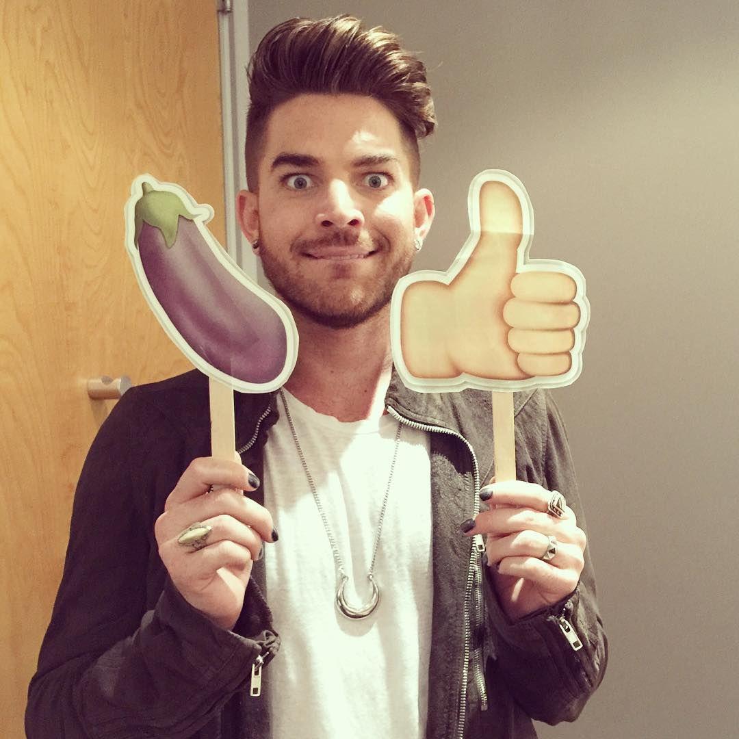 Adam Lambert being a goofball