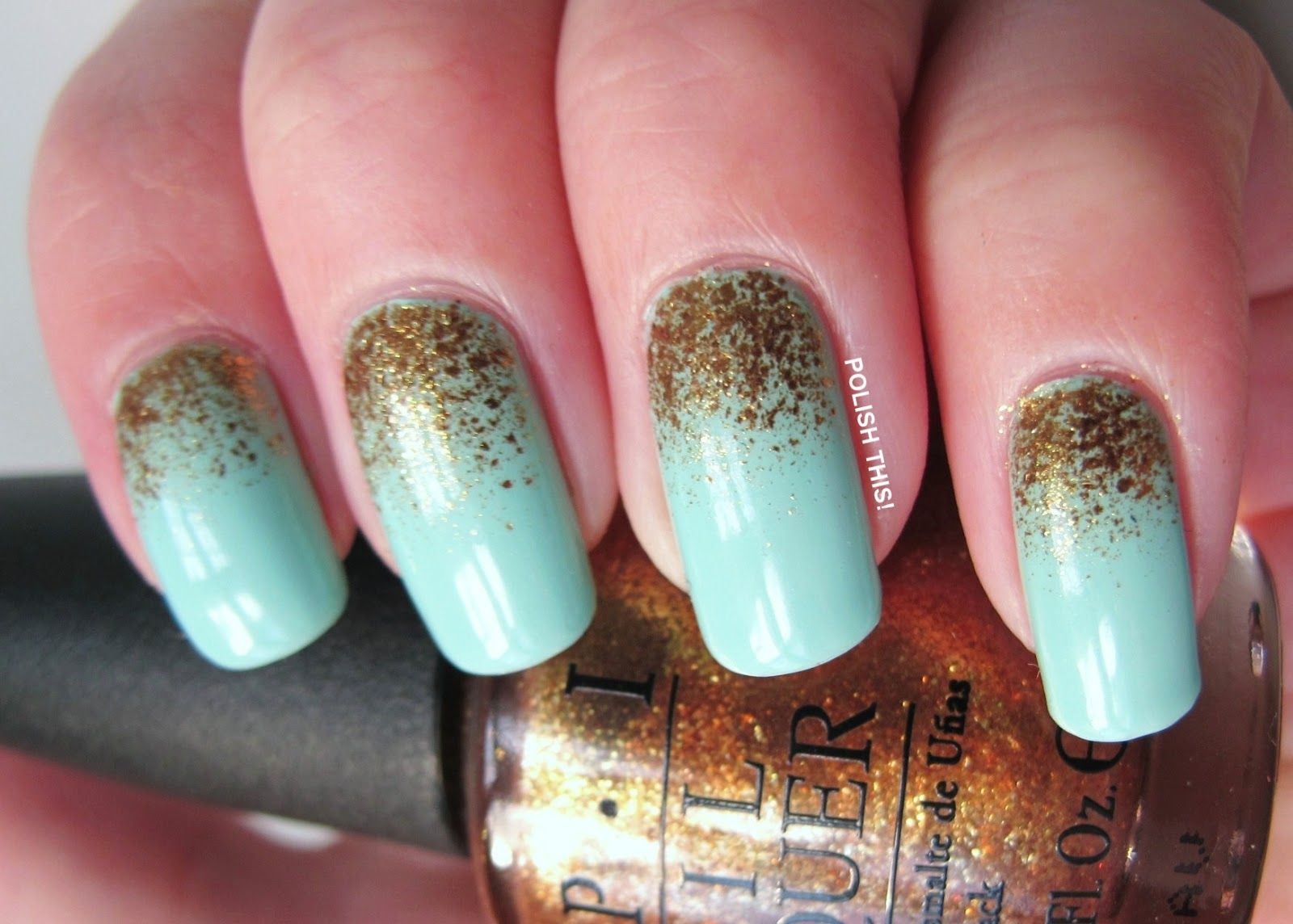Polish This!: Essie Mint Candy Apple with OPI GoldenEye. I have both ...