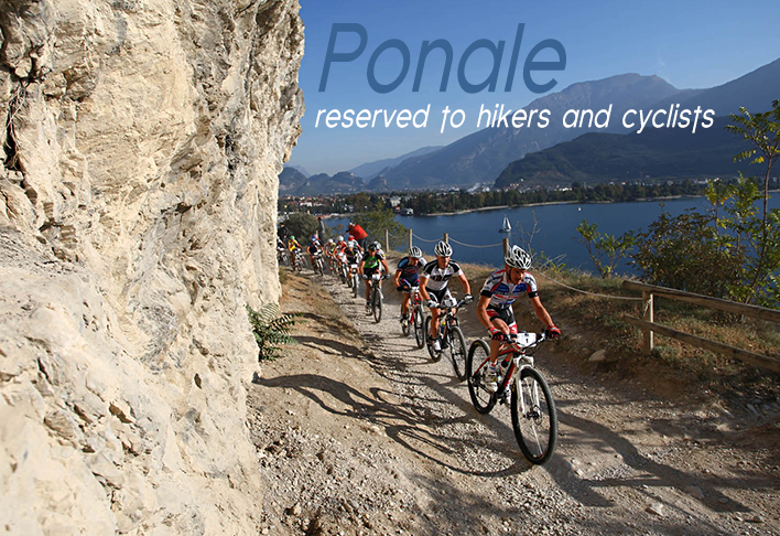 The old Strada del Ponale offers great views of Lake Garda. It is reserved to hikers and cyclists and one of the biggest attractions of the upper LakeGarda.