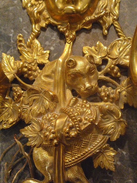 Detail of a gilt bronze sconce at SG Grand, Winter 2012