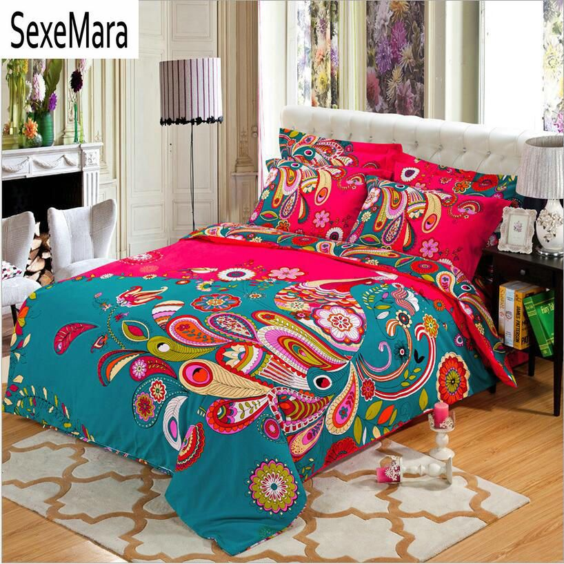 organic rose cover black quilt sets home piece luxury queen size in item bed white duvet and print sheets from red cotton bedding feather king