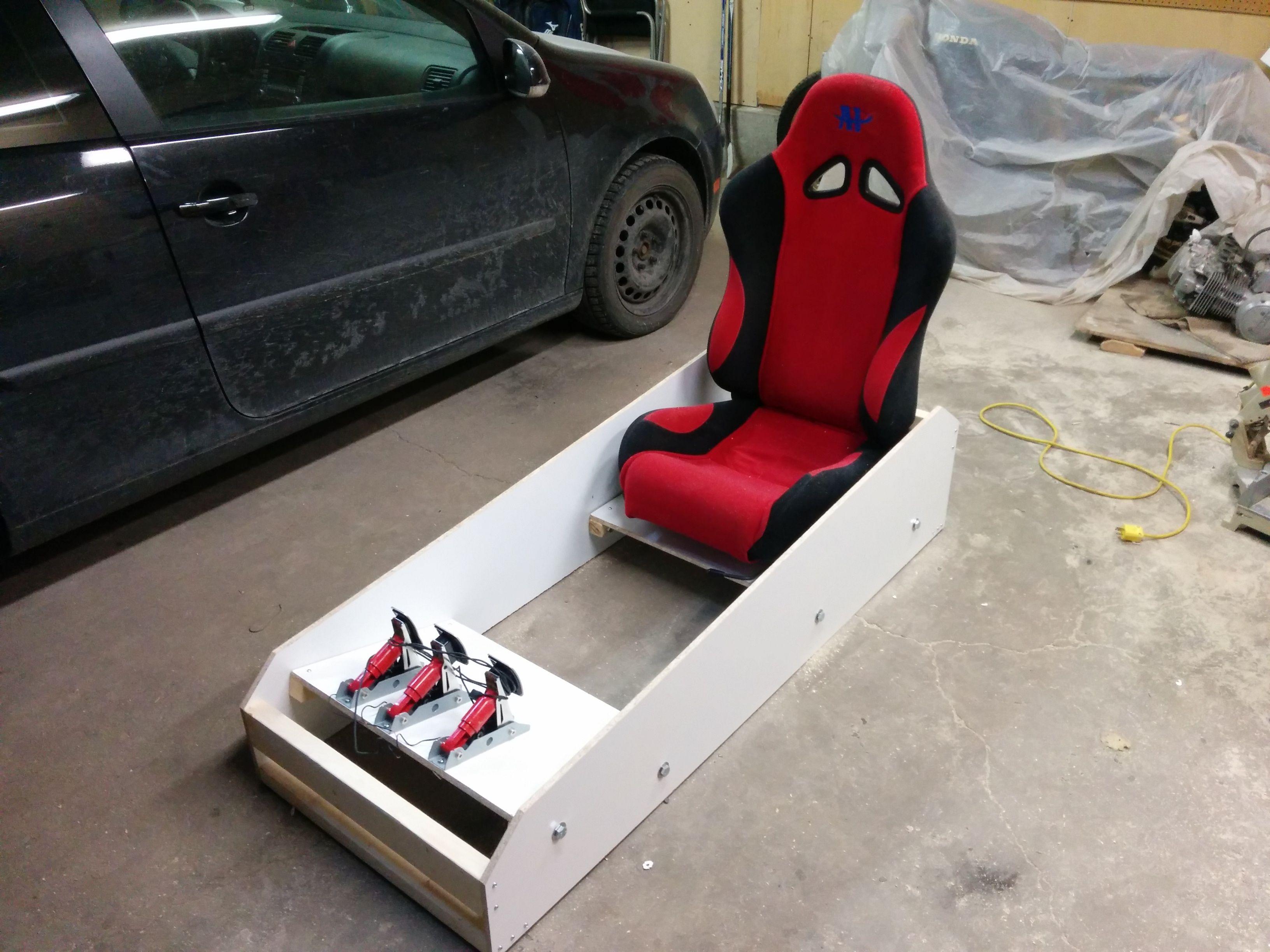 sim racing rig single weekend sub 250 design in 2019 gaming racing simulator sims. Black Bedroom Furniture Sets. Home Design Ideas