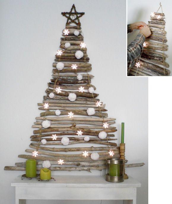 Branchchristmastree Stick Christmas Tree Creative Christmas Trees Diy Christmas Decorations Easy