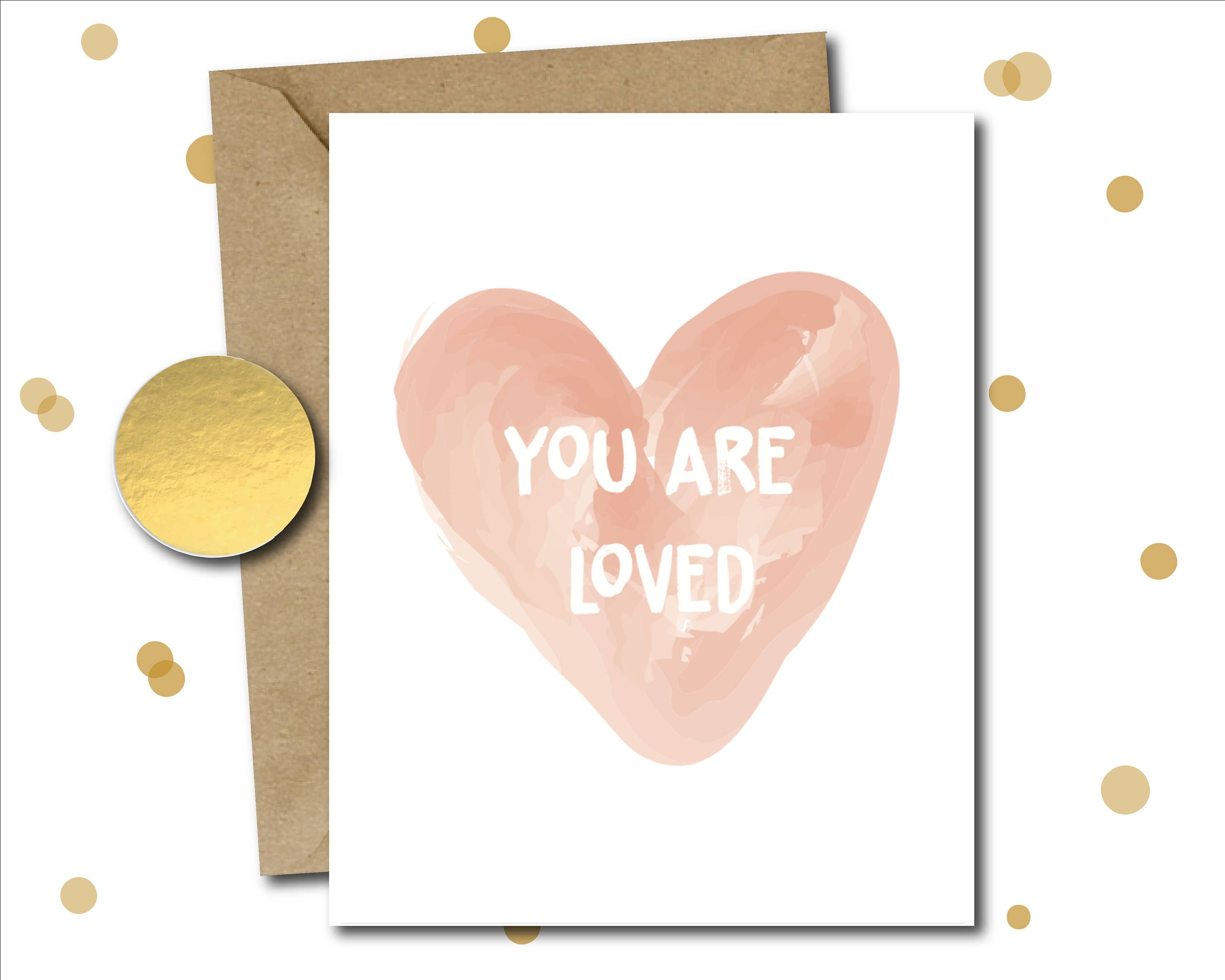 Note Card Love Thinking Of You Mental Health Sick Card Just