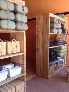 yoga prop storage shelves i like these shelves although