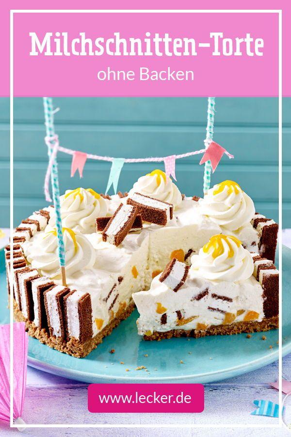 Milchschnitten Torte Rezept Lecker Rezept Milchschnitte Torte Milchkuchen Kuchen Und Torten Rezepte
