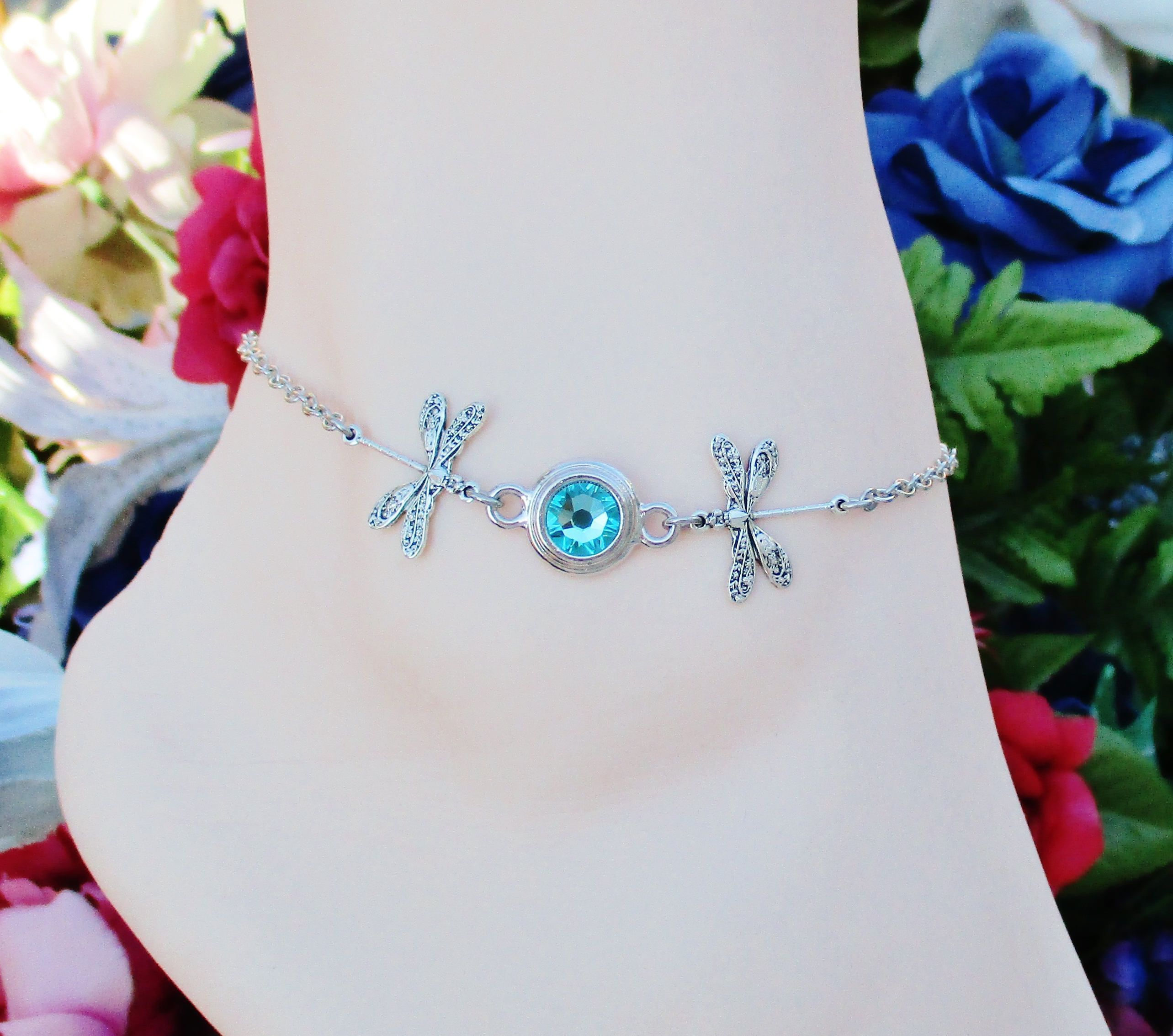 womens fullxfull something jewelry wedding topaz anklets blue for il bracelet ankle gold bride anklet p rose gift