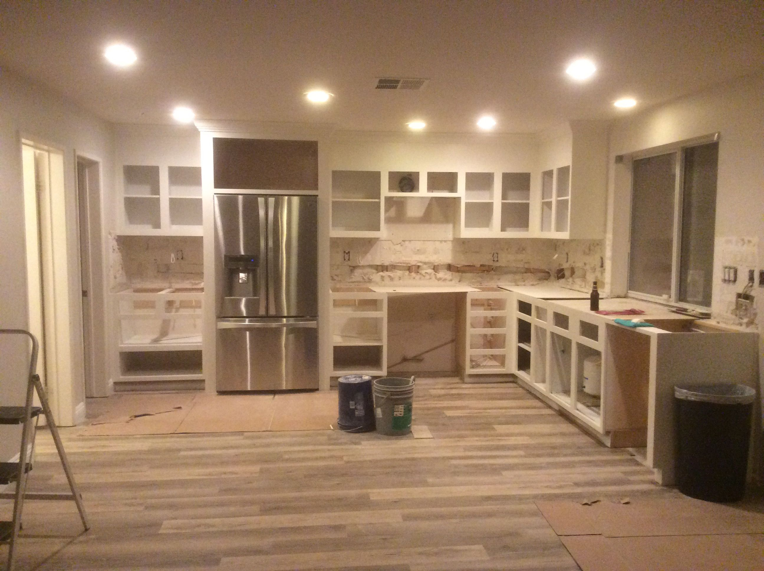 """kitchen remodel during the process.. 
