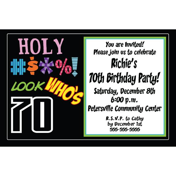 Nice 70th Birthday Party Invitations Ideas For Him