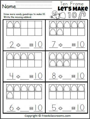 Let S Make 10 Gumdrop Addition Kindergarten Addition Worksheets Kindergarten Math Free Kindergarten Math Addition