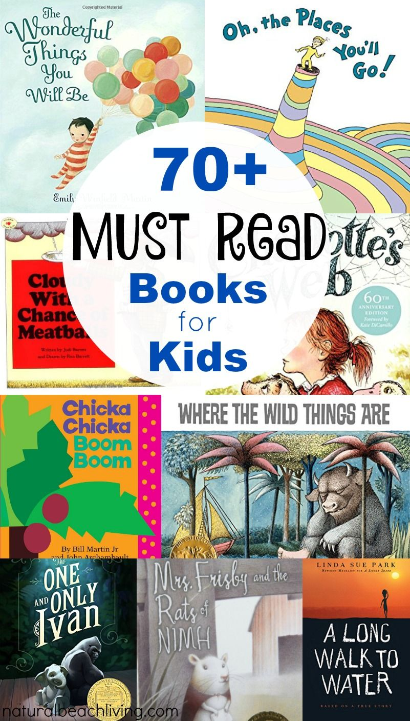 70 Best Books Every Child Should Read or Hear in Their Lifetime - Natural  Beach Living | Kindergarten books, Best children books, Preschool books