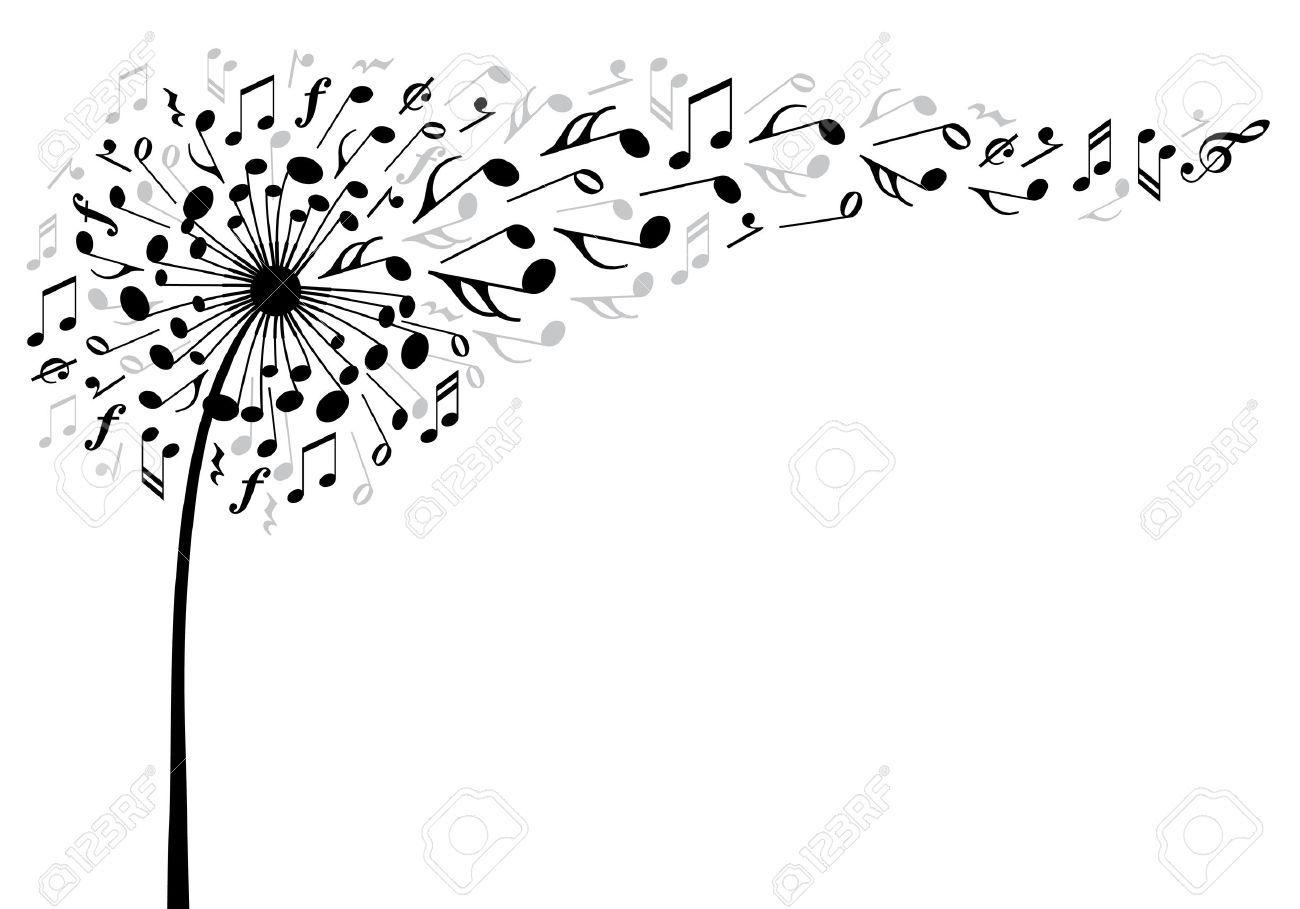 Risultati Immagini Per Soffione Note Musicali Bianco E Nero