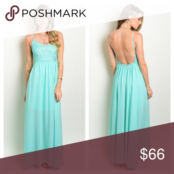 ✨COMING SOON✨ DO NOT BUY. CURRENTLY OUT OF STOCK. Sleeveless crochet top fitted waist chiffon maxi dress. Great dress for summer weddings! Dresses Maxi