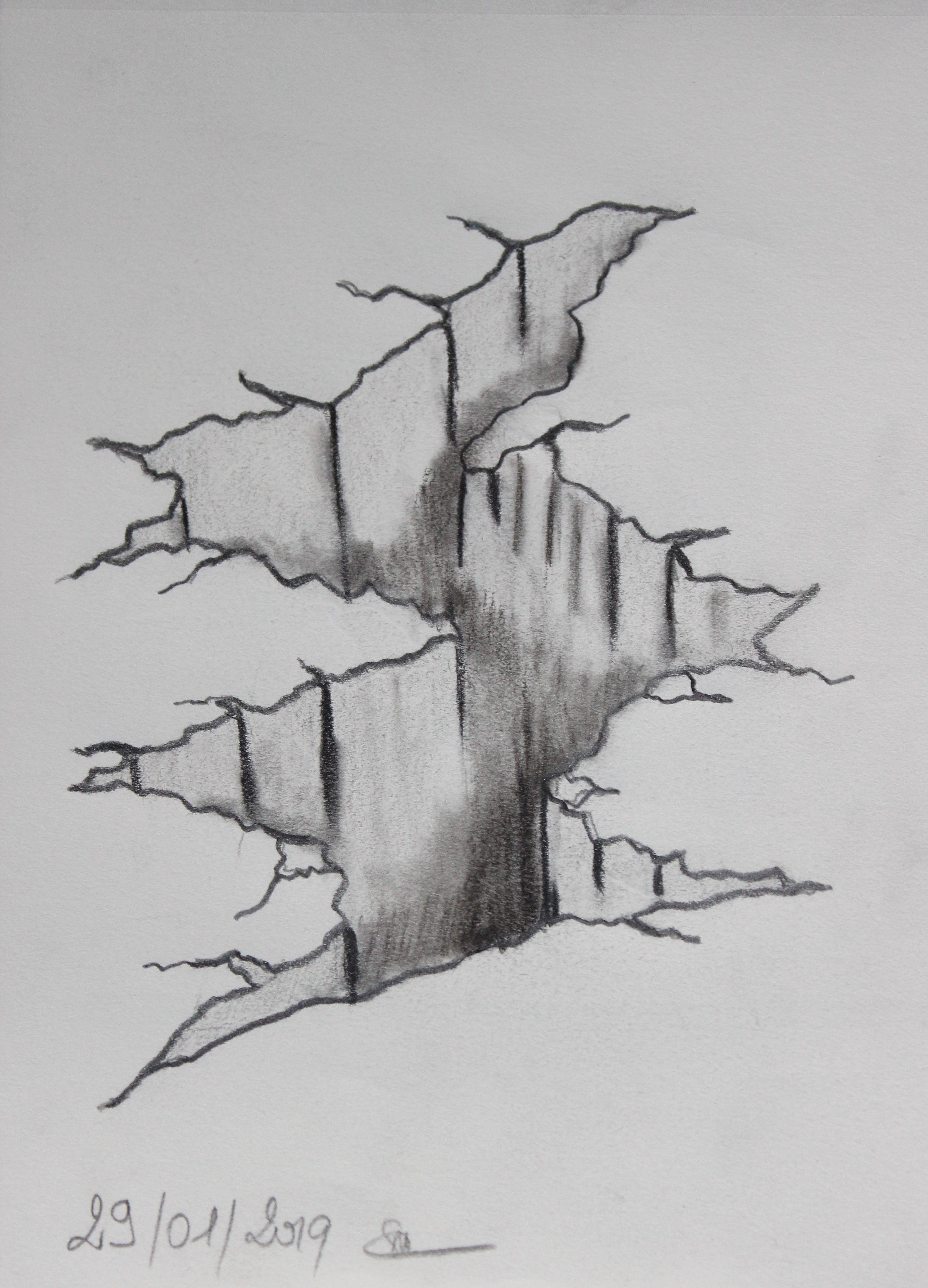 fissure dans le sol  Dessin, Le sol