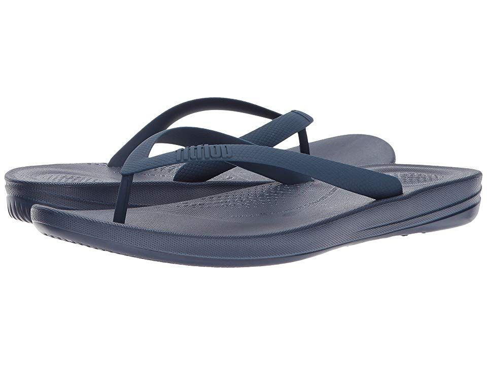 2d31d8af7bb143 FitFlop Iqushion Ergonomic Flip-Flops (Midnight Navy) Men s Sandals. for  the women s
