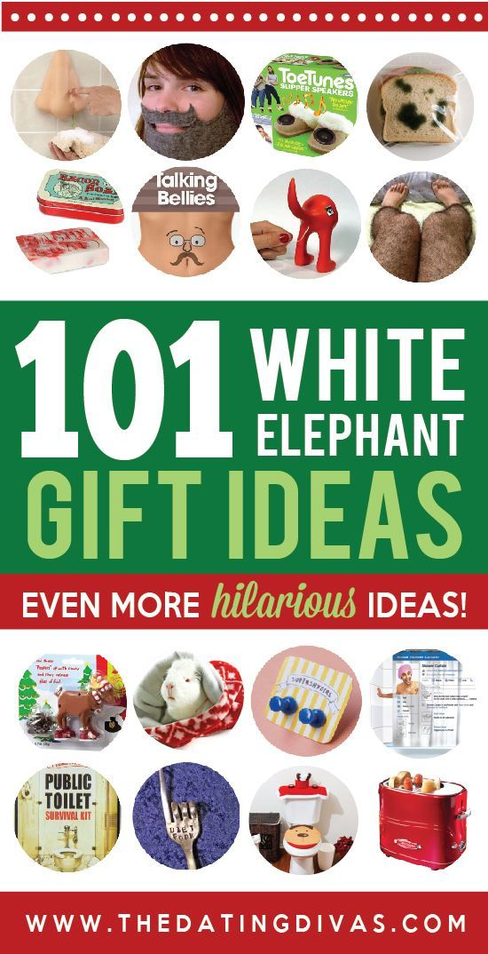 I am definitely using one of these for my White Elephant gift party next  week! So funny! www.TheDatingDivas.com - 50 Hilarious And Creative White Elephant Gift Ideas All Things