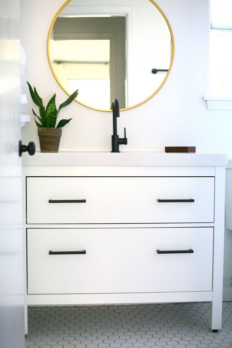 My proudest IKEA hack! Classy modern vanity from an IKEA favorite ...