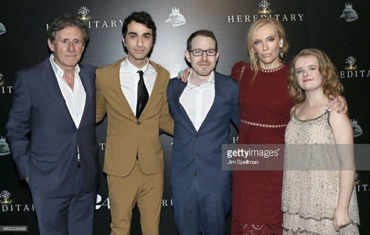 Gabriel Byrne Alex Wolff Ari Aster Toni Collette And Milly Shapiro At The