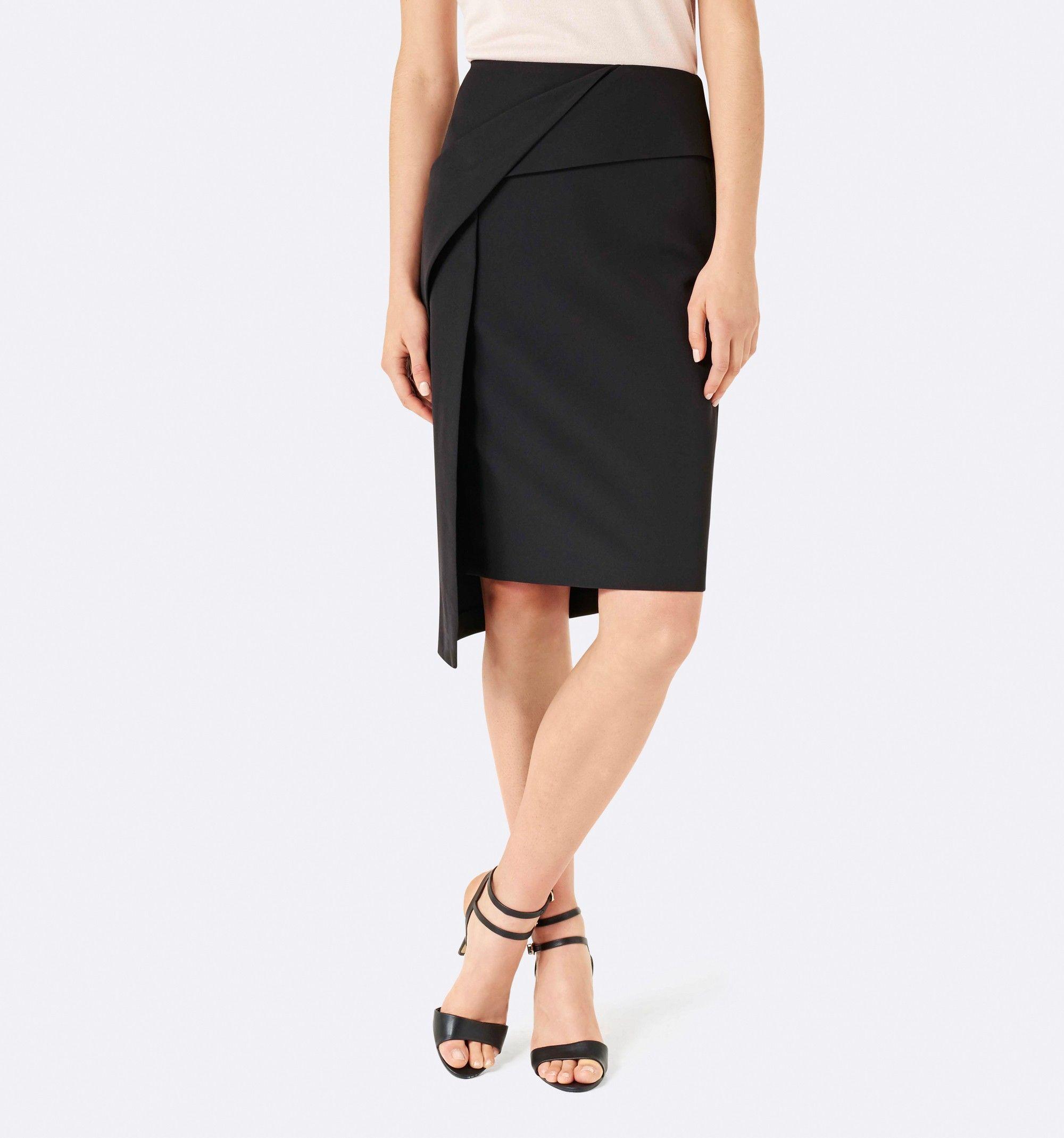 Gabby twist asymmetric skirt black womens fashion forever new