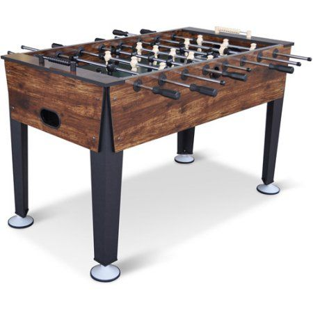 Classic Sport Newcastle Foosball Table Brown Wood Finish 54 In Official Competition Sized Soccer Table Walmart Com Foosball Table Soccer Table Game Room Tables