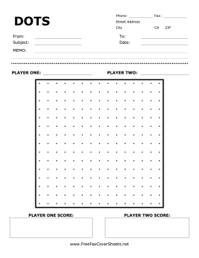 A TwoPlayer Game Of Dots Decorates The Front Of This Printable