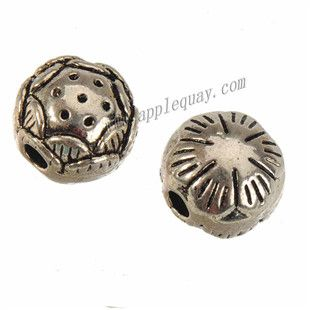Zinc Alloy Jewelry Beads,Lotus Root,Plated,Cadmium And Lead Free,Various Color For Choice,Approx 8.5*7.5mm,Hole:Approx 2mm,Sold By Bags,No 010319