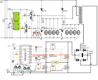 The Post Discusses A 5kva Pwm Sinewave Inverter Circuit Using Compact Ferrite Core Transformer Th Circuit Projects Circuit Diagram Electronic Circuit Projects