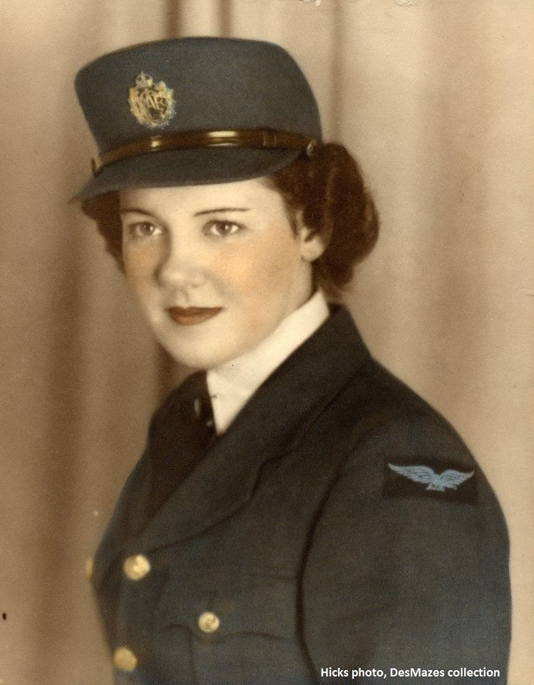 Barbra Hicks, LAW, RCAF Boundary Bay 1944-45. Both Barbra and her Husband, Corporal Doug Hicks were posted to No. 5 OTU Boundary Bay as part of the hundreds of support staff ~