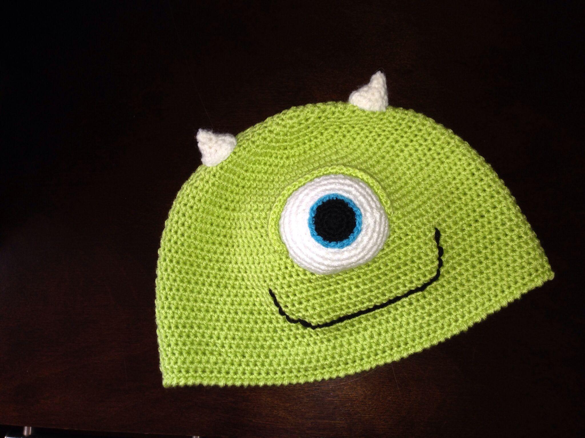 Mike Wazowisk hat. Monsters Co. Crochet hat.