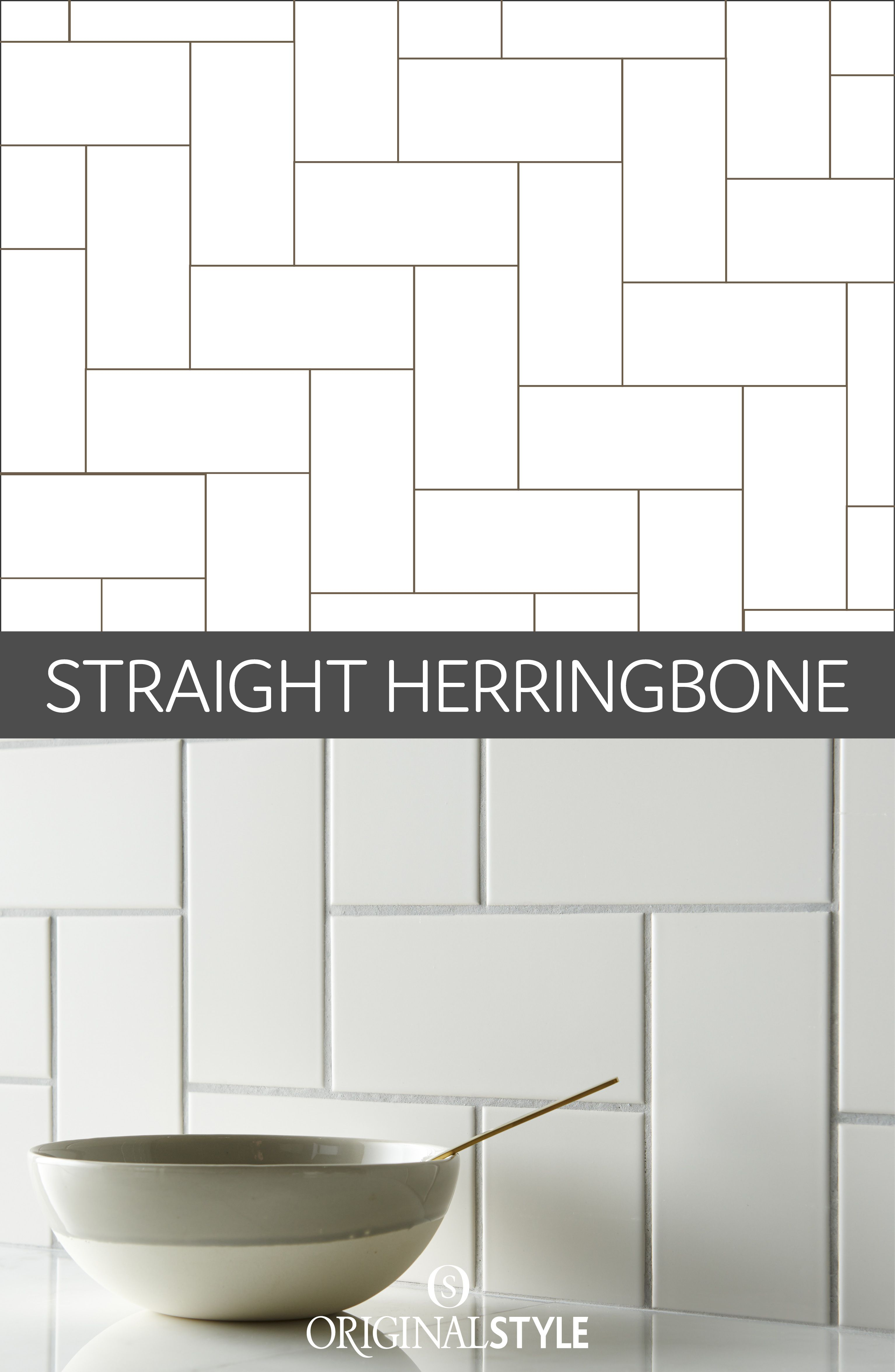 Visual eye candy how to tile a herringbone floor part i - This Take On The Herringbone Pattern Has A More Contemporary Vibe With The Tiles Laid At