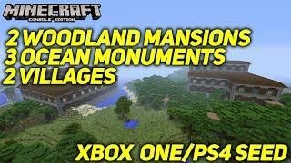 Minecraft Xbox One Ps4 Seed 2 Woodland Mansions 3 Ocean