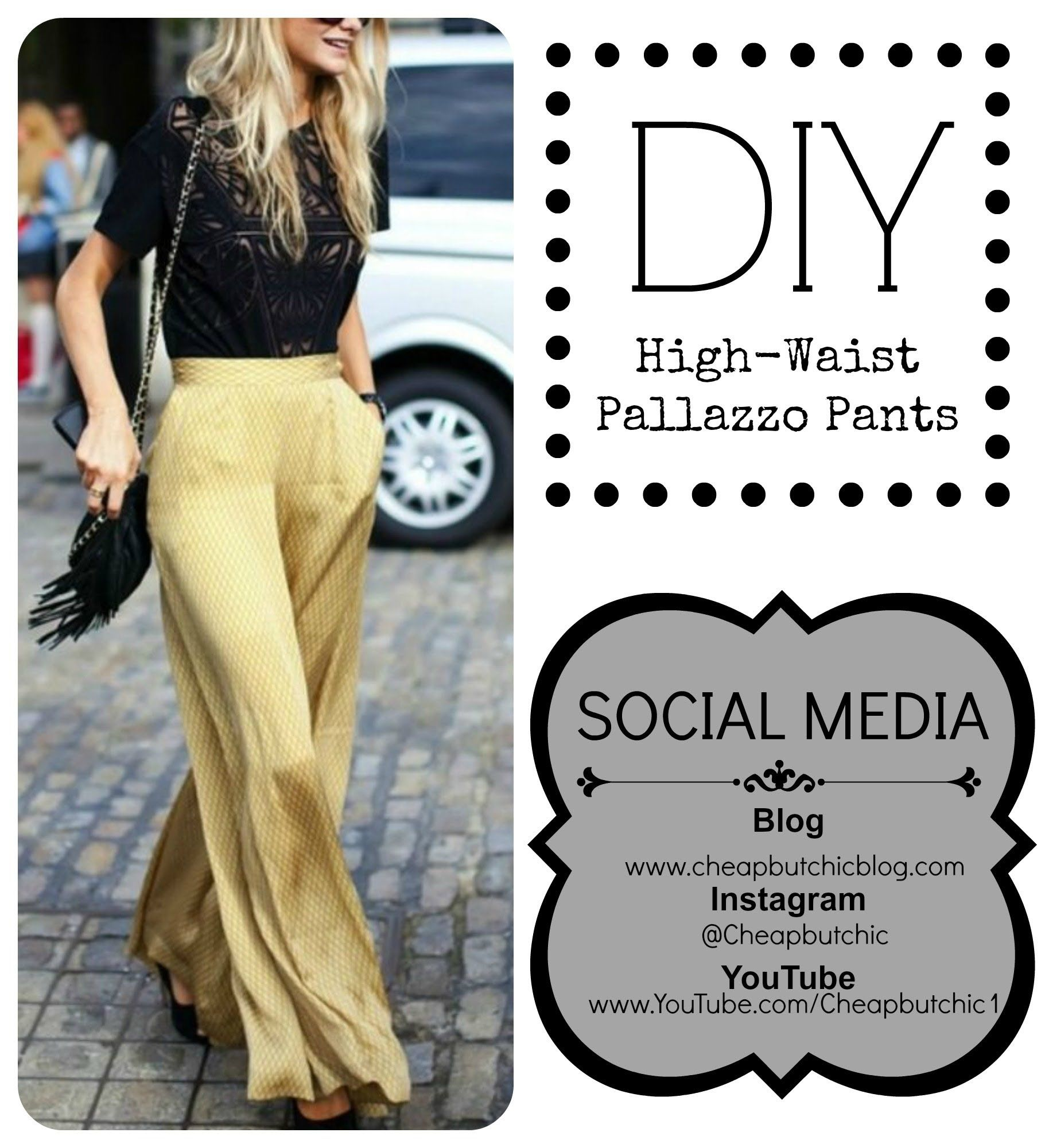 EASY to follow tutorial on how to make High Waist Pallazzo Pants ...