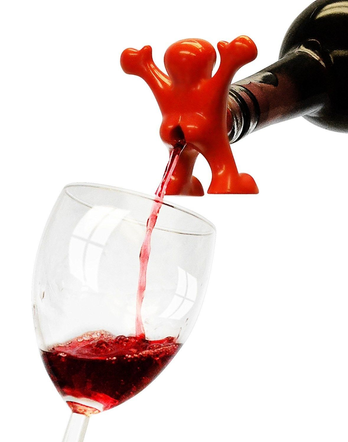A Wine Pourer Who Ll Be As Excited As We Are To Be Drinking Wine This Holiday Season In 2020 Wine Pourer Wine Drinks Wine