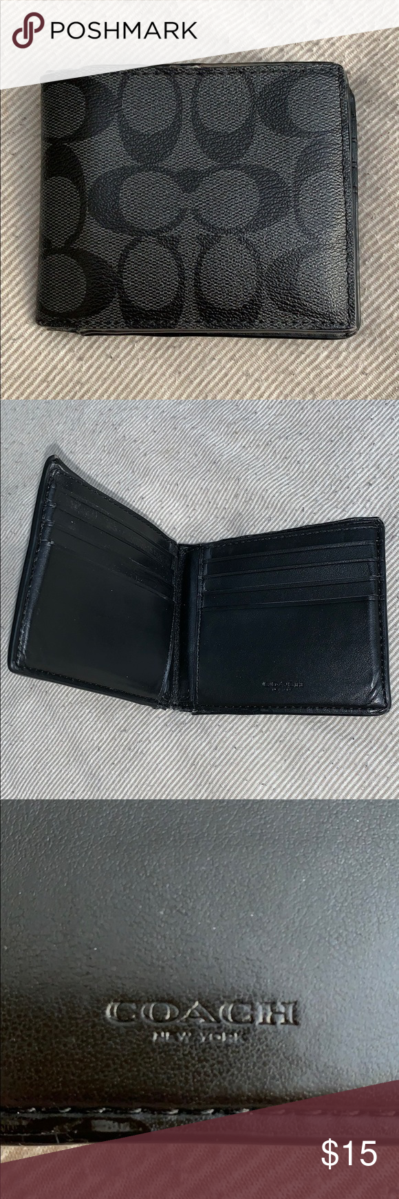 10e24ab2a9 Coach Slim Billfold Wallet In Signature Canvas This is my old wallet ...