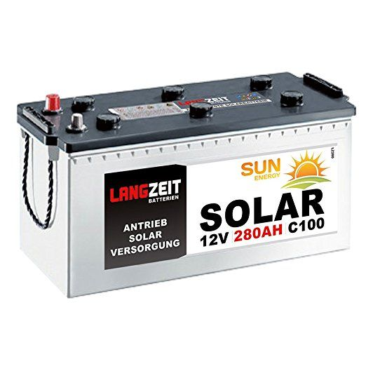Solarbatterie 280Ah 12V Wohnmobil Boot Wohnwagen Camping