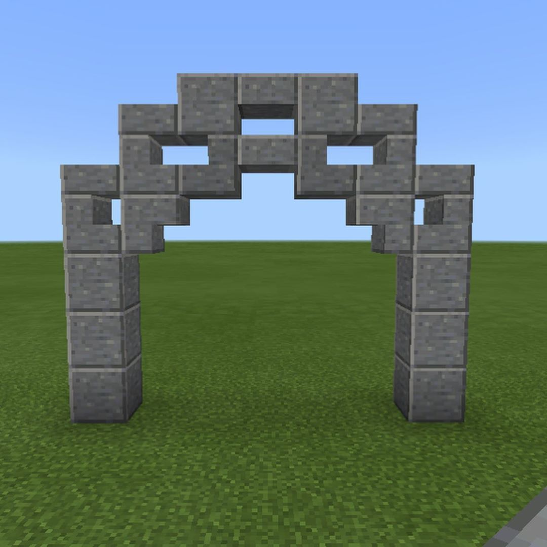 Claire1593 On Instagram Here S A Better Way Of Seeing How I Made Two Of The Most Popular Arches In A In 2020 Minecraft Architecture Minecraft Houses Minecraft Crafts