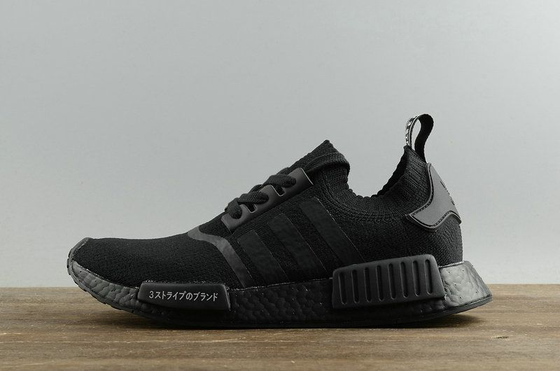 662ec0aa6 2018 Fashion Adidas NMD R1 Primeknit Japan Triple Black Noir BZ0220 Youth  Big Boys Sneakers